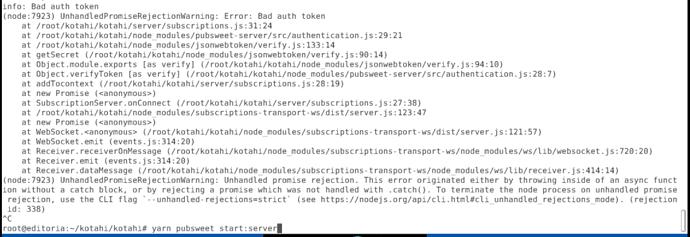Bad_auth_error